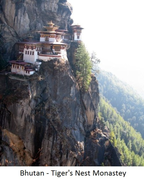 Tiger-nest monastey in Paro Bhutan