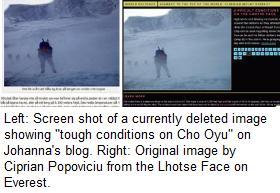 Lhotse Face on Everest