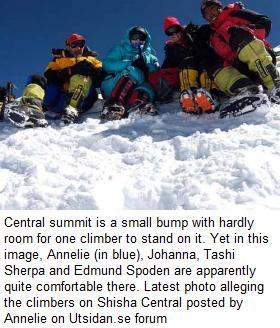 Shisha Pangma _Central summit